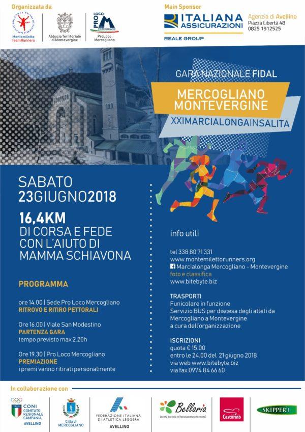 Locandina marcialonga montevergine italiana assicurazioni